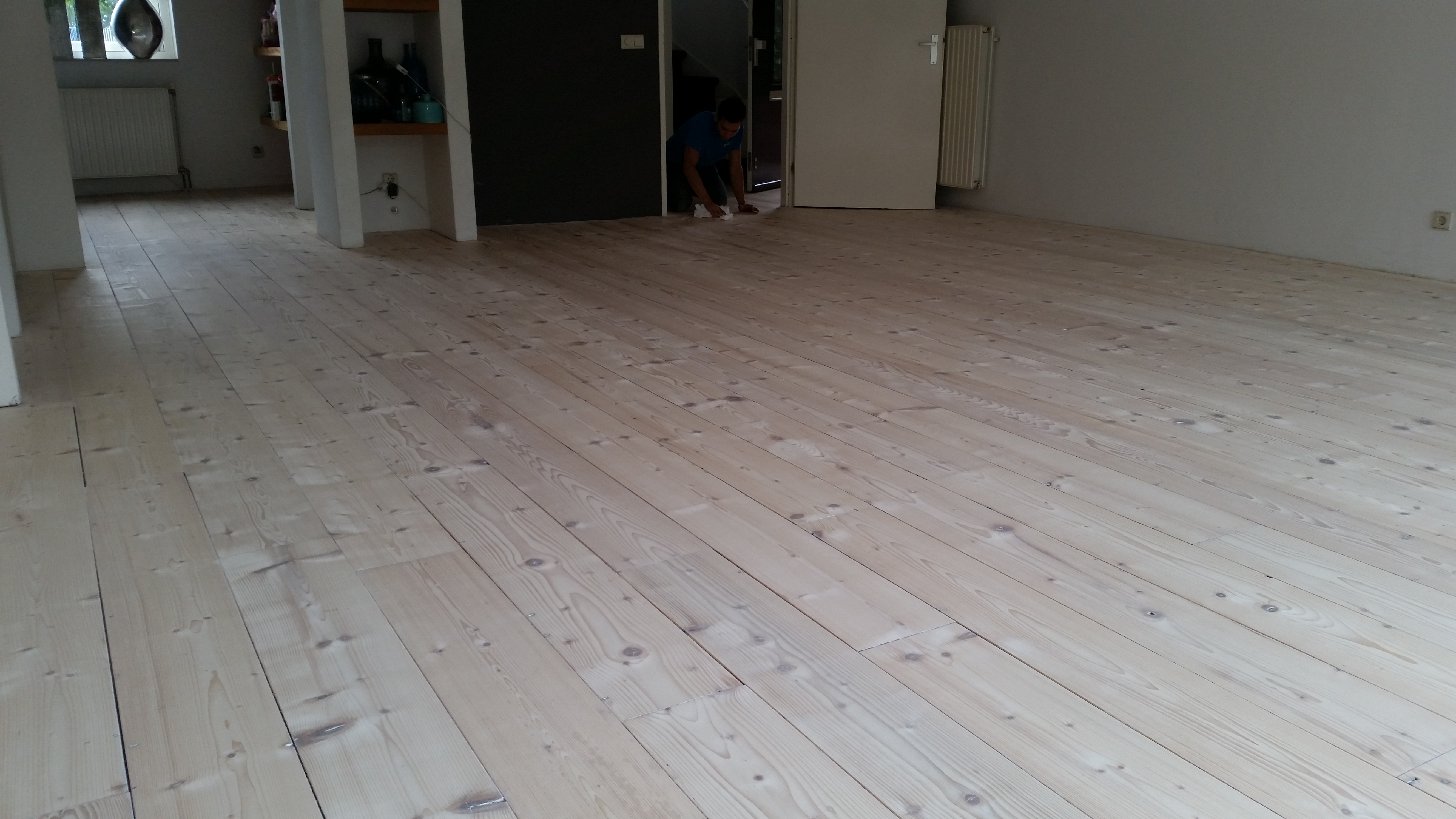 Massief Grenen Vloer : Eiken vloer white wash latest brede delen eiken white wash